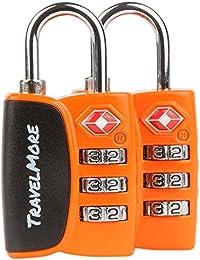 TSA Equipaje Locks Candado con Búsqueda Alert–Candado de combinación de viaje para maletas y Mochilas (1, 2y 4unidades)