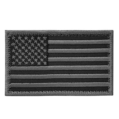 2AFTER1 ACU Black USA American Flag ISAF Morale Tactical Army Touch Fastener Patch