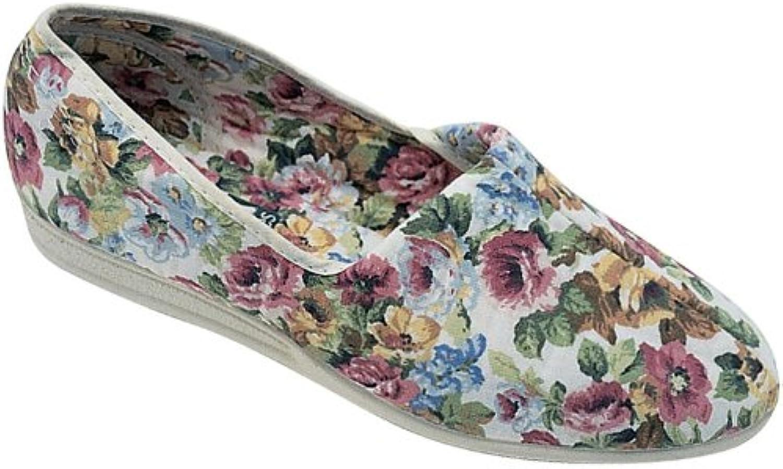 Womens Ladies Mirak Patricia Cotton Summer Shoes Slip On Beige UK 3 4 5 6 7 8
