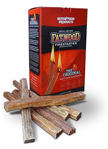 Better Wood Products - Caja de astillas, teas resinosas de madera para encender fuego