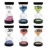 THE TWIDDLERS Paquete de 6 Relojes de Arena con Varios Tiempos - 6...