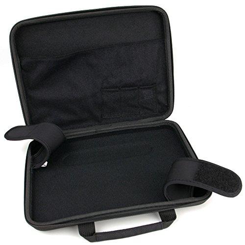 DURAGADGET Für 9 Zoll Denver MT-980 DVD-Player: Schwarze Schutz- & Transporttasche   Hard-Case   Hartschalen-Hülle   Etui. Material: robust und wasserabweisend Dvd-player-case
