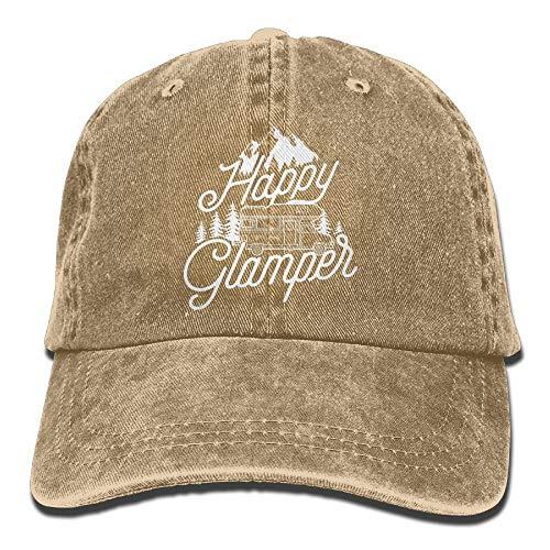 VTXINS Happy Glamper Denim Hat Adjustable Female Baseball Hat Derby-cup