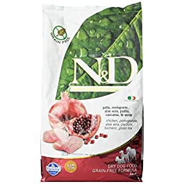 N&d low grain N&D N& d Grain Free con Pollo e Melograno Secco Cane kg. 2,5, Multicolore, Unica