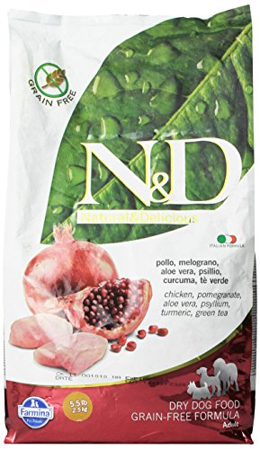 Nd-low-grain-ND-N-d-Grain-Free-con-Pollo-e-Melograno-Secco-Cane-kg-25-Multicolore-Unica
