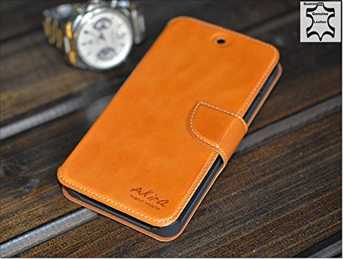 Original Akira Hand Made [Echt Leder] Handyhülle Nexus 5 Cover Handgemacht Case Schutzhülle Etui Flip Wallet Pen [DEUTSCHER FACHHANDEL] Braun (Wallet 5 Nexus)