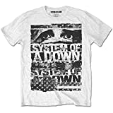System of a Down Torn Rock Heavy Metal oficial Camiseta para hombre (X-Large)