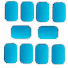 EMS ABS Gel hoja cinturón tonificador de Abdominal Músculo de tóner de repuesto de almohadillas de repuesto, Novatech abdominales Ab entrenador accesorios Set 30 piezas de gel hojas para Gel Pad