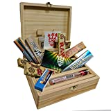 Rolling Supreme T3 Size Solid Pine Rolling Box - Gift Set by SMO-KING