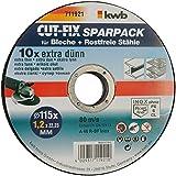 KWB - 10 disques à tronçonner métaux 115x1,2 pour meuleuse KWB