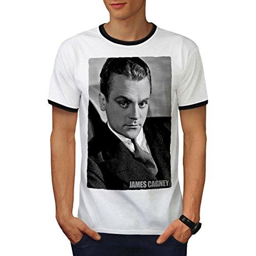 Star James Cagney Berühmt Person Herren L Ringer T-shirt | Wellcoda (Von Authentisch Teppich Shirt)