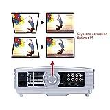 Beamer LED Projektor Tragbar HD 3200 Lumens 1080P 1280X800 Kontrast 2000:1 Beamer Tragbarer Videoprojektor Mini WiMiUS T4 Projektor für Heimkino Spiel Bildung Multimedia HDMI /USB /VGA /AV -