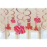 Amscan International Valentines Day Value Pack Swirl Decoration