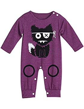 Amcool Schön Baby Born Bekleidung Fuchs Muster Letter Print Romper Overall Bekleidungssets Bodysuit 0-18 Monate
