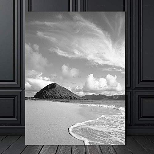 NIMCG Arte Moderna Poster da Parete per Soggiorno Immagini HD Stampate Stampa su Tela con Paesaggio Marino Pittura su Tela su Tela R3 (Senza Cornice) R3 30x40CM