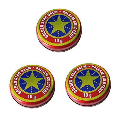 Golden Stern Balm Lot de 3 baumes de 10 g pour balm Étoile Balm Étoile Balm Étoile de Balm de la marque Golden Étoile Balm Électronique de la marque Choix de 30 ans