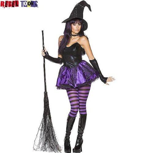 Rebel Toons Hexenkostüm Kostüm Hexe Halloween, Größe:L