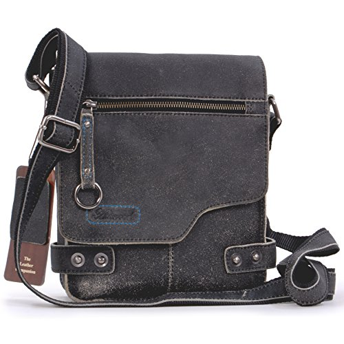 Borsa Messenger Ashwood in pelle - 8351 - Nero
