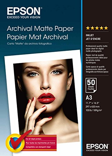 Epson C13S041344 Matte archival papier inkjet 192g/m2 A3 50 Blatt Pack