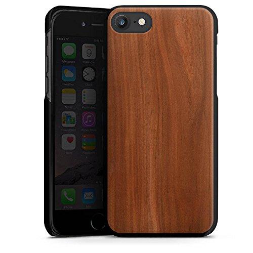 Apple iPhone 6s Hülle Premium Case Cover Kastanie Holz Look Hard Case schwarz