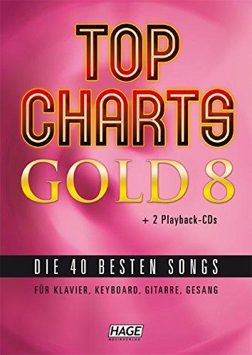 Preisvergleich Produktbild Top Charts Gold 8 - arrangiert für Songbook - mit CD und USB-Stick (Midi-Dateien) [Noten / Sheetmusic]