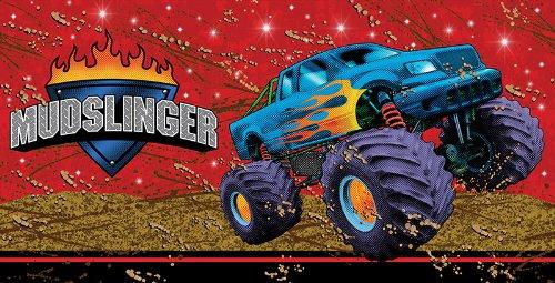 Mudslinger Tischdecke aus Kunststoff, Rechteck, 137,2x 274,3cm (Monster-themed Geburtstag)