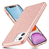 Inconnu ESR Coque pour iPhone 11 Corail, Coque Silicone Paillette Strass Brillante Bling Bling Glitter de pour Apple iPhone 11 (2019) 6,1 Pouces (Série Glamour, Corail Pailleté)