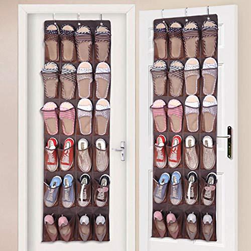 xinxu über Tür Schuh Veranstalter Hängeorganizer Schuhaufbewahrung für Tür Hängender Schuh-Halter Hängend Multifunktionale Aufbewahrungstasche Ordnungssystem Schuhschränke 24 Atmungsaktive Taschen