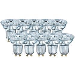 Osram 4058075036703 Spot LED 4,30W Cool Réflecteur 4000K, Verre, GU10, 4 W, Argent - Pack de 10