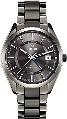 Rado HyperChrome XL Grey Dial Grey Ceramic Bracelet and Case Mens Watch R32165102 by Rado