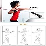 , Griffe,Türanker & Fußschlaufen- Gymnastikband Trainingsbänder Fitnessbänder Expander für Ganz-Körper-Workout Yoga Pilates