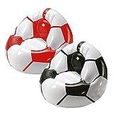 elasto form Aufblasbarer Sessel Fußball Big mit Getränkehalterung für 2 Getränke   Großer Luftsessel für Kinder max. 80 kg Ideales Fußball-Geschenk für Kinder & Erwachsene...