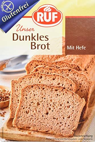 RUF Dunkles Brot glutenfrei, 8er Pack (8 x 457 g)