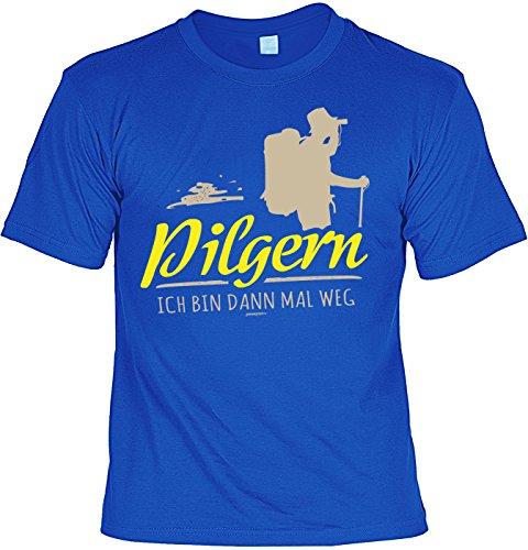 Pilger Sprüche T-Shirt Pilgerweg Wandern : Pilgern Ich Bin dann mal Weg -Tshirt Wandern Pilgerurlaub Urlaub Pilgern Gr: S