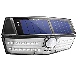 Mpow 30 LED Solar Lights, A New Generation of Motion Sensor Outdoor Lights, Industry-leading Solar Panel, Waterpoof Bright Security Lights, Great Outside Lights for Yard, Driveway, Garage, Pathway