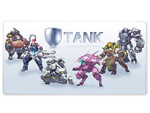 Großes OW Gaming Mauspad, XXL Manga Tischauflage, Motiv: Tanks