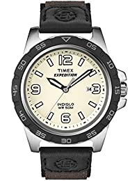 Timex Men's 40mm Chronograph Black Cloth Stainless Steel Case Date Watch T49886