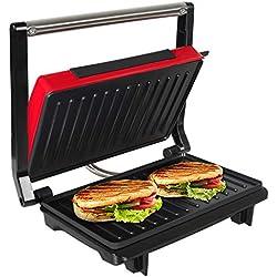 Gril Viande/Panini/Sandwich OZAVO - Revêtement Antiadhésif - Couvercle Flottant-750W