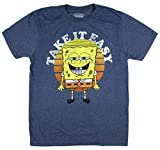 Real Deal Sales LLC Spongebob Squarepants Take It Easy Men's T-Shirt (Moyen)