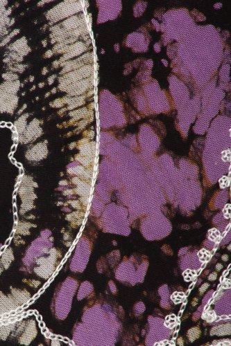 Sakkas Aloha Blumen-Kaftan Kleid Schwarz / Violett