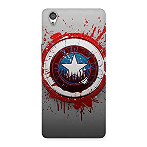 Delighted Blood Red Round Back Case Cover for OnePlus X