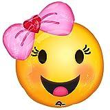 Mayflower Emoji-mit Schleife 45,7cm Ballon