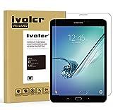 Verre Trempé Samsung Galaxy Tab S2 8.0 pouces [Garantie à Vie], iVoler Film Protection en Verre trempé écran Protecteur - ANTI RAYURES - SANS BULLES D'AIR -Ultra Résistant Dureté 9H Glass Screen Protector pour Samsung Galaxy Tab S2 8.0'' (SM-T710 / SM-T715)