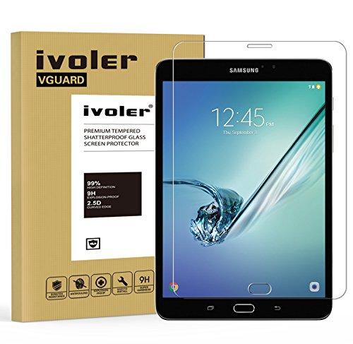 Samsung Galaxy Tab S2 8.0'' (SM-T710 / SM-T715) Pellicola Protettiva, iVoler Pellicola Protettiva in Vetro Temperato per Samsung Galaxy Tab S2 8.0'' (SM-T710 / SM-T715) - Vetro con Durezza 9H, Spessore di 0,3 mm,Bordi Arrotondati da 2,5D-Shockproof, Trasparenza ad alta definizione, Facile da installare- Garanzia a vita
