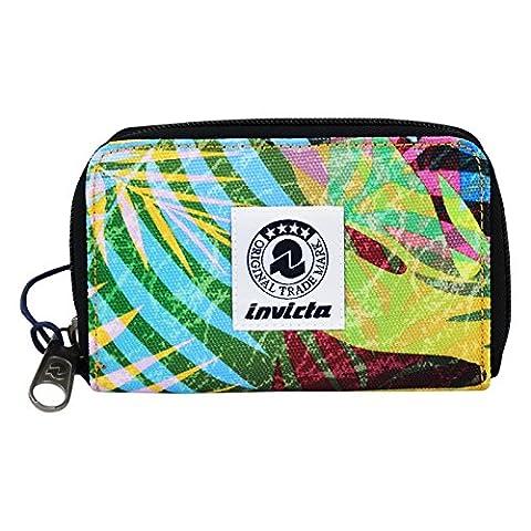 Invicta Look Wallet Geldtasche Geldbörsen Geldbeutel Reißverschluss Brieftasche Madchen Damen Mehrfarbig