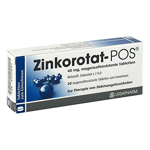 Zinkorotat-POS 40 mg, 20 St. Tabletten