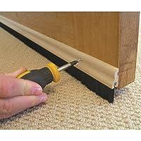 Stormguard 02SR0320838WO 838mm Bottom of The Door Brush Strip Draught Excluder - Wood