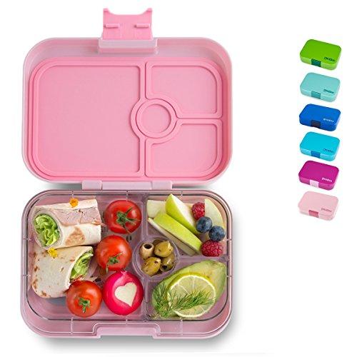 Yumbox Panino M Bento Box - mittelgroß, mit 4 Fächern | Lunchbox mit Trennwänden | Kindergarten Kinder, Schulanfang, Erwachsene...