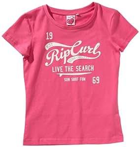 Rip Curl Mädchen Surfwear Rip Curl High School T-shirt, shocking pink, JTE3GB_8753_8