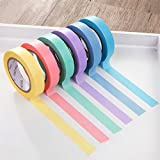Abklebeband, Basteln mehrfarbiges Abklebeband [6er-Packung verschiedene farbcodierte Rollen] Bastelzubehör 10m Washi-Tape zum Basteln, Scrapbooking